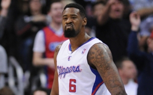 Jan 6, 2014; Los Angeles, CA, USA; Los Angeles Clippers center DeAndre Jordan (6) reacts after getting fouled in the first quarter against the Orlando Magic at Staples Center. The Clippers defeated the Magic 101-81. Mandatory Credit: Andrew Fielding-USA TODAY Sports