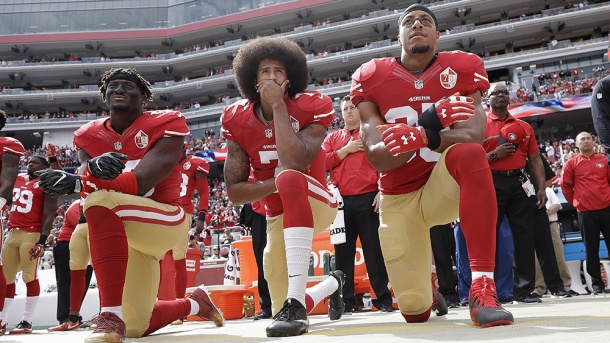 Poll Anthem Protest, Santa Clara, USA - 02 Oct 2016